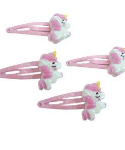 Unicorn haarspeldjes roze