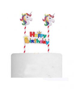 Eenhoorn taart happy birthday