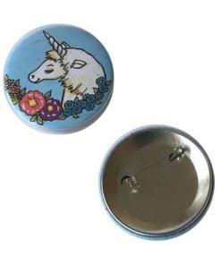 Eenhoorn buttons metaal