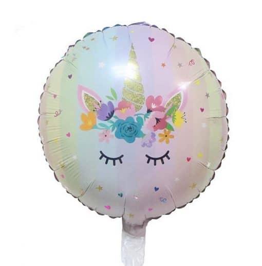 Eenhoorn folie ballon rond
