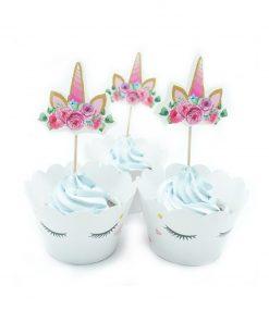 eenhoorn cupcake wrappers