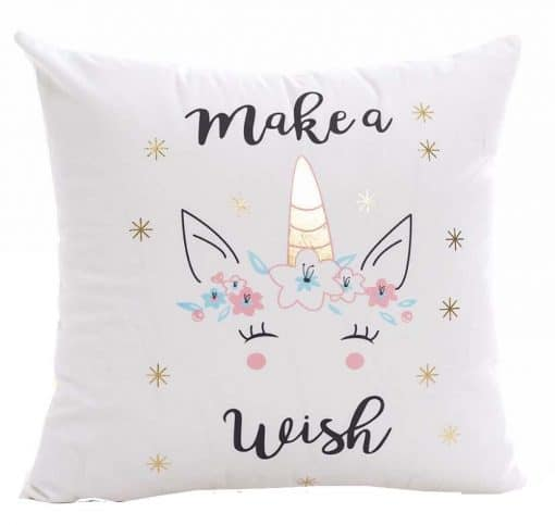 unicorn kussen make a wish