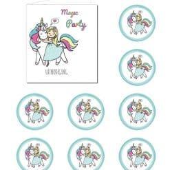 Eenhoorn uitnodigingen en eenhoorn stickers