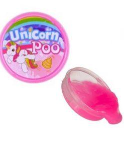 Eenhoorn slijm - Unicorn Poo in de kleur roze met wat glitters