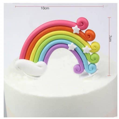 Regenboog om eenhoorn taart mee te maken