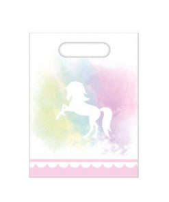 Eenhoorn goodiebag in pastel tinten voor babyshower of