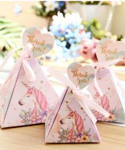 Eenhoorn babyshower bedank doosjes