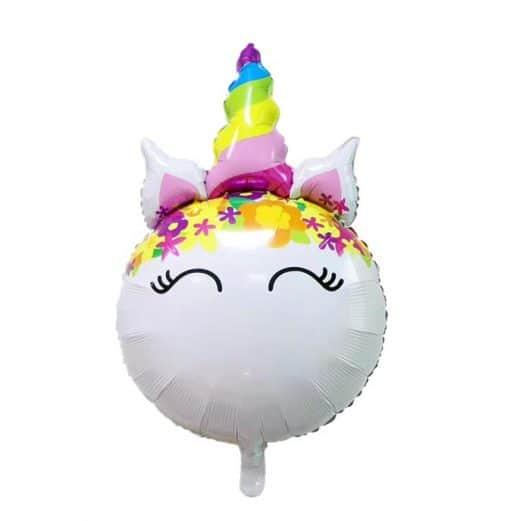 Eenhoorn folieballon voor lucht of helium