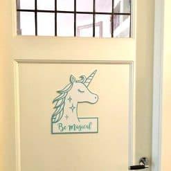 Eenhoorn naambord deur