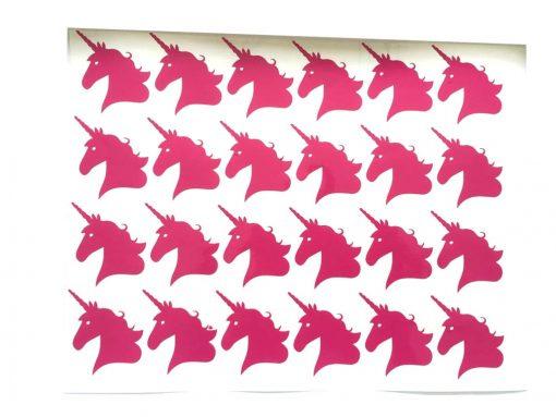 Eenhoorn stickers roze traktatie maken